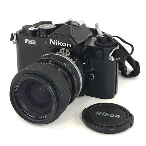 Nikon FM2 ブラック ボディ Zoom-NIKKOR 35-70mm